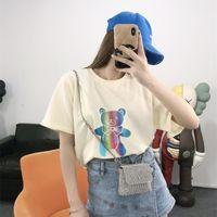 Women's tshirt girl T-Shirts good quality 100% cotton Spring Summer Unisex t shirt Women man 4810i