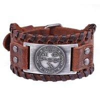 Skyrim Viking Compass Bransoletka Nordic Hunes Vintage Bransoletka Odin Symbol Prawdziwej Skóry Bransoletki Mężczyźni Biżuteria Akcesoria
