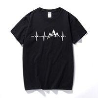 Vhorz Dağ Kalp Atışı T-shirt Moda Komik Doğum Günü% 100% Pamuk Kısa Kollu T Shirt Nedensel O-Boyun Tops Tees Hip Hop