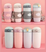 Children's insulation cup strap teapot cartoon water bottle creative student large capacity bucket stainless steel straw pot wholesale custom
