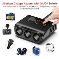 3 Cigarette Lighter Socket Power Adapter 4 USB Fast Charing Ports Car Charger 12V to 24 Circuit Protection for iPhone iPad LG Samsung