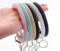 Силиконовые наручные клавиши кольцо мода блеск браслет спортивная вечеринка брелец браслеты браслеты круглые кольца большие милые брелок подарки WLL535