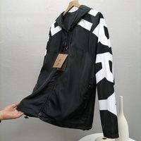 디자이너 남자 재킷 럭셔리 편지 스타일 코트 고품질 방풍 캐주얼 봄과 가을 의류