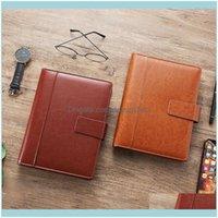Notes Notepads Fournitures Office School Businessa5 Anneau Bornier Pu en cuir Publics Publics Planificateur Drop Livraison 2021 6CLM0