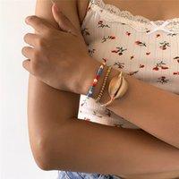 Female Boho Brown Big Shell Beads Bracelet for Women Pulseras Mujer Tortoise Ankle Bracelets Girls Hand Chain Jewelry