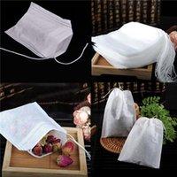 Saquinhos de chá 100 pcs / lote 5,5 x 7cm vazio cordão de chá sacos de chá cure papel filtro de selo para erva solta chá por atacado