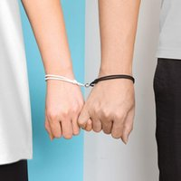 2pcs Couple Bracelet for Women Love Friendship Rope Braided Distance Magnetic s Paired Jewelry Lover Men Charm