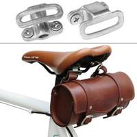 Bisiklet Eyer Tayvan Yapımı SOB GC Retro Çelik Tüp Kamyon Bisiklet Kuyruk Çantası Paslanmaz Yapış Halka Ile Asılı Pabucu Sabitleme Toka