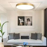 Ultra-thin LED Ceiling Lights 24W 30W 39W 60W Gold Black White Surface Installation Living Room Bedroom Home Decoration Lighting