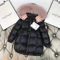 kid fur coat for girls fashion baby girl boutique snow coats black color designer boys winter warm clothes wholesale 90-160 cm
