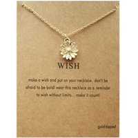 Little Daisy Flower Sun Chrysanthemum Necklace Female Clavicle Chain
