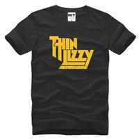 T-SIHRT 3D Ağır Metal Rock Grubu Ince Lizzy T Gömlek Erkekler Tops Müzik POP Erkekler T-shirt Kısa Kollu Pamuk O-Boyun Tee Topssoccer Jersey
