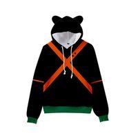 Men's Hoodies & Sweatshirts Creative 3-14 Years Kids Anime My Hero Academia Boku No Hoodie Cute Boys Girls Cat Ears 3D