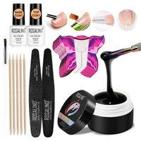 Nail Art Kits Soak Off UV Builder Gel Polish With Brush Pen File Set For Nails Decoration Kit Extension