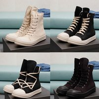 2021 Breathable Men Women Canvas Boots High Top Male Fashion Luxury Designer Sneakers Black Lace Up Mens Woman Shoes Trainers Size Eur 36 to 47