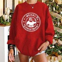 여성용 후드 티 스웨터 Seeyoushy 2021 크리스마스 Kawaii 눈사람 프린트 여성 Crewneck 캐주얼 드롭 어깨 긴 소매 Sudaderas 파라 M
