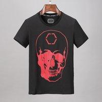 Designer Mens Skull Diamond T-shirt manica corta Brand Spring e Estate Alta O-collo Qualità Teschio Tshirt TSHIRT THEES P0113