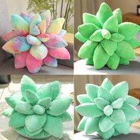 Bonito 3d suculentas Cactus travesseiro verde amantes do bebê plantar almofadas para jardim quarto quarto decoração de casa novidade almofada de pelúcia HH21-479