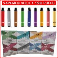 Vapeman Solo X Disposable E Cigarettes 1500 Puffs Vape Pen Device 850mAh Battery 4.2ml Prefilled Cartridges 17 Flavs