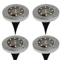 2021 8 LED Solaire Énergé Solar Puissance solaire Solaire Solle Sous-lampe Sous-chaussée Piste extérieure Voie de jardin Decking Solaire LED Lumière