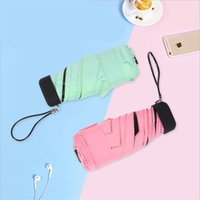 Rainy Day Pocket Umbrella Mini Plegable Sun Sopbrellas Parasol Color plegable Color de Dulces Viajes Renan 515 R2
