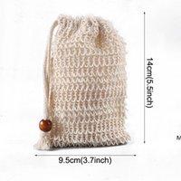 Sabonete feito a mão Sacos esfoliante cordão natural saco saco saco de sabão líquido malha portátil secagem o saco de recipiente de sabão hwe647
