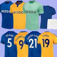 2021EVerton Fussball Jersey Calvert Lewin Everton Football Shirt Kean Richarlison Sigurdsson André Gomes Keane Walcott 2020 2021 MAILLT