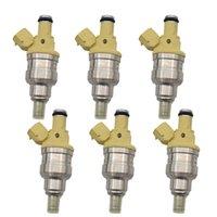 6 stück fließgepaßte Kraftstoffeinspritzdüsen für den Mazda-Pickup 2.2L L4 B2200 1990-1993 F2GB-13-250 INP081