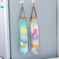 Hangable Fruit Vegetable Storage Mesh Bag Multifunctional Hollow And Breathable Onion Hanging Bags Household Kitchen Supplies CCF7846