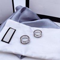 Письмо, переплетение рисунка кольцо стерлингового серебра 925 Стерлинговое кольцо старого резного шероховатого кружева простые и универсальные ювелирные изделия