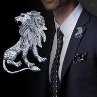 I-Remiel Antigo Animal Leão Broche Pino Homens Terno Camisa Collar Acessórios Lapela Badge Pins and Broches Wedding Dress1