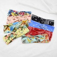 Ins Printed Cross Band Sports Face Wash Headband Summer Yoga Fitness Hair Accessories Fabric Floral Knot Headband