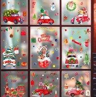 لطيف سانتا كلوز نافذة زجاج ملصقات زجاجية عطلة الديكور عيد الميلاد مصراع ملصق مشهد الترتيب