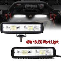 48W 16 LED phares 12-24V pour la moto automobile tracteur de bateau de camion tracteur offroad workfight lumière 36w travail