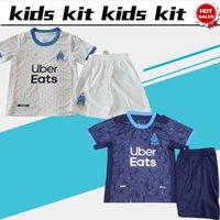 20 21 Kit Kit Kit Marseille Soccer Jersey Home Away Child Soccer Shirt # 9 Balotelli # 10 Payet Futebol Uniformes Jersey Shorts