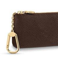 Couro Chave Bolsa de Luxo Mini Carteira Bag Designer Moda Mulheres Homens Mens Bolsas de Crédito Cartão Presbyopic Moeda Bolsa Brown Canvas M62650 12 * 7cm