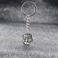 Vintage argento colore 11 Style Boxer Basset Hound Beagle Labrador Dogs Keychain Pet Dog Key Catena portachiavi Portachiavi Charm per le donne uomini