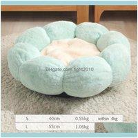 Beds Furniture Supplies Home & Gardenpet Bed Super Soft Plush Round Mat Flower-Shaped Kennel Cat Winter Warm Deep Sleep Litter Sofa Kitty Pu