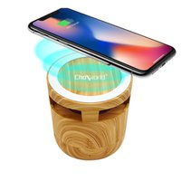 Dropship Choworld 2 In 1 Mini Cask Bluetooth Speaker with Mobile Phone Wireless Charging Outdoor Retro Home Decoration Smart Gift