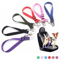 Pet Dog Cat Car Seat Belt For Accessories Goods Animals Adjustable Harness Lead Leash Small Medium Travel Clip French Bulldog