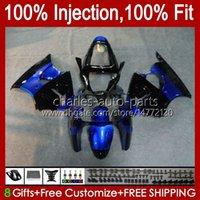 Injectie Mold Carrosserie voor Kawasaki Ninja ZX-6R ZX600 ZX636 ZX-600 Body 37HC.120 ZX 600 CC 6 R ZX 6R Blue Black Nieuwe ZX 636 600CC ZX6R 00 01 02 ZX-636 2000 2001 2002 OEM FACKING