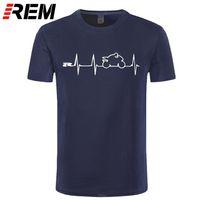 REM New Cool Tee Shirts camiseta Japón Motorcycles Heartbeat GSXR 1000 750 600 K7 210319