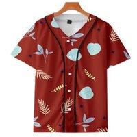 Camiseta de béisbol de los hombres camiseta 3D camiseta impresa camisa unisex verano casual camisetas hip hop tshirt adolescentes 063