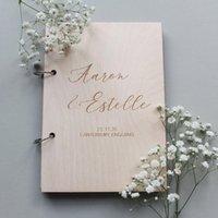 Personalisierte rustikale Gästebuch Hochzeit Gästebuch benutzerdefinierte irgendwelche Worte Bridal-Duschgeschenke Verlobungsgeschenk-Schärpen
