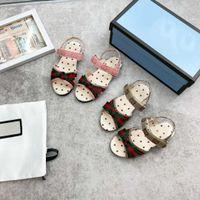 Designer enfants Chaussures de marque Sandales de marque Filles Princesse Casual Chaussure avec nœud papillon taille 26-35 couleurs couleur rose