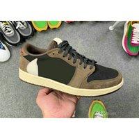 En İyi Kalite 1 Düşük OG TS X 1 S Kaktüs Jack Koyu Mocha SP Ayakkabı Basketbol Eğitmenler Erkek Kadın Spor Sneakers