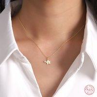 925 Стерлинговая серебристая корейская версия простой мультфильм звездные кулонные ключицы цепи ожерелье женщины милый день рождения вечеринка