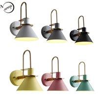 Lámpara de pared Nordic Clarion Luz industrial moderna LED E27 con 3 colores para dormitorio Sala de estar Restaurante Cocina Aisle Bar