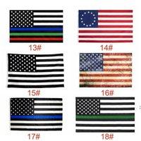 USA-Flaggen US-Armee-Banner Airforce Marine Corp Navy Besty Ross-Flagge Tunt tritt auf mich Flaggen Thin XXX-Linie Flag BWB5822
