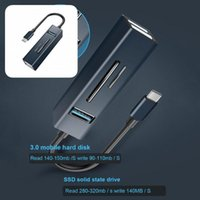 Hubs Lightweight Practical USB Type-C TF SD-Card Plug Play Cable Hub Splitter Driver-free